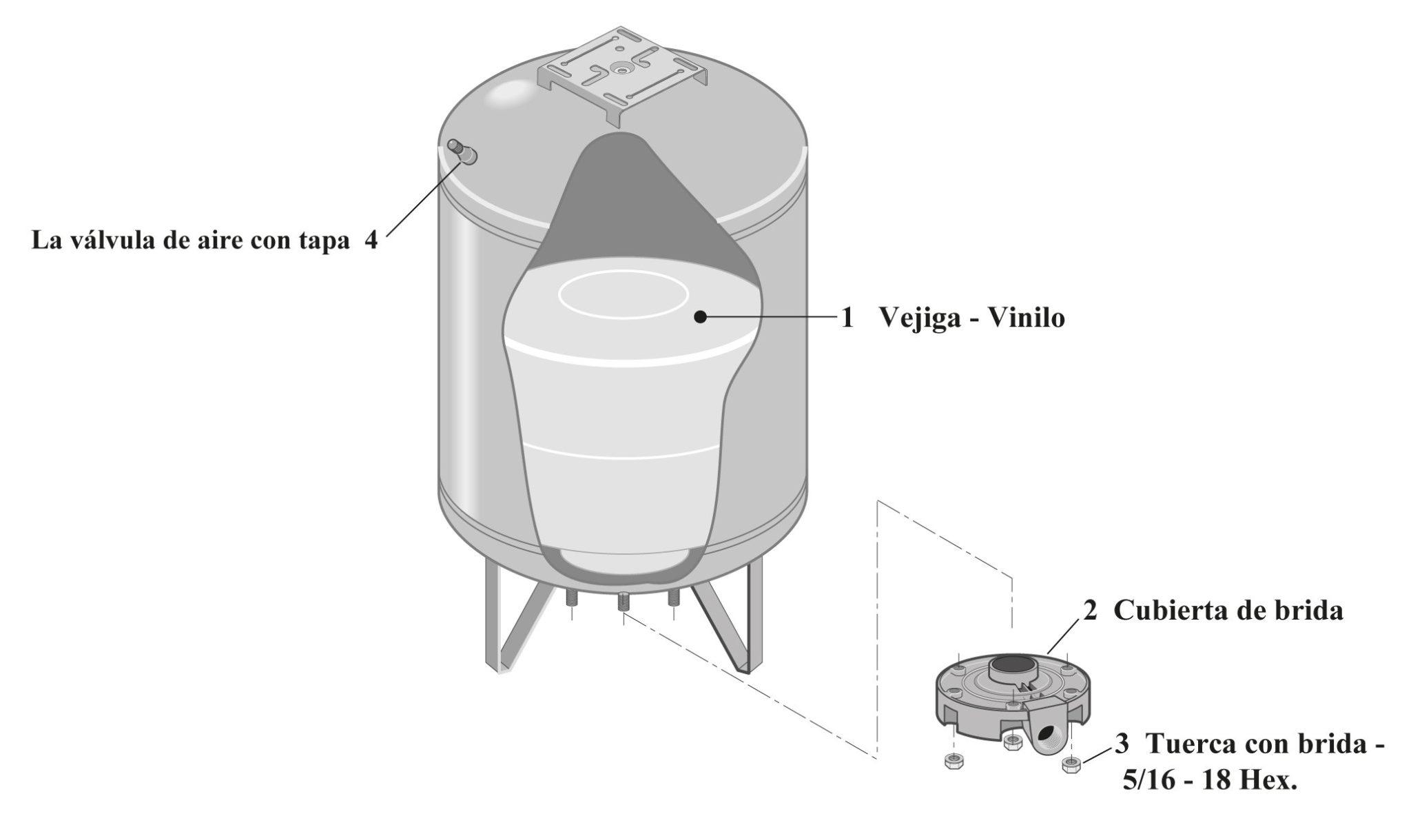 Reparación de Piezas Tanques de Presión Precargada HT7-01 / HT20 / VT14 / VT19 / VT20 / VT36 / VT52 / VT96 / VT99